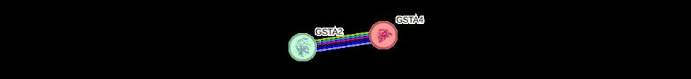 Protein-Protein network diagram for GSTA4