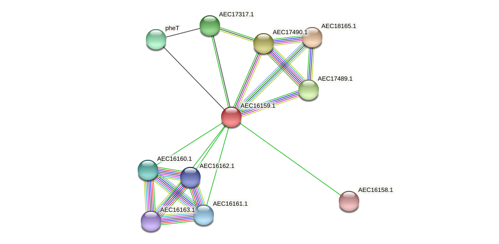UMN179_00122 protein (Gallibacterium anatis) - STRING interaction network