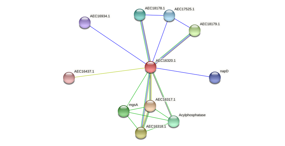 UMN179_00283 protein (Gallibacterium anatis) - STRING interaction network