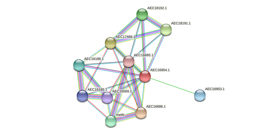 UMN179_00926 protein (Gallibacterium anatis) - STRING interaction network