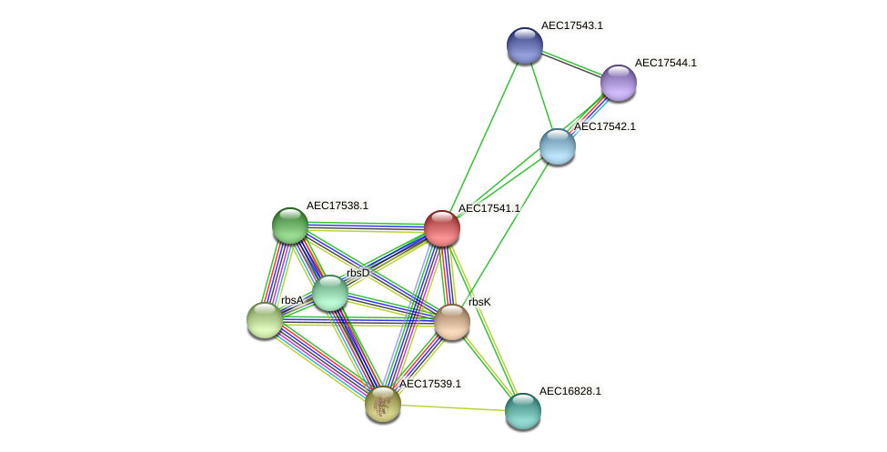 UMN179_01524 protein (Gallibacterium anatis) - STRING interaction network