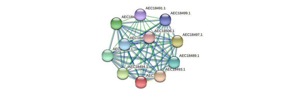 UMN179_02485 protein (Gallibacterium anatis) - STRING interaction network
