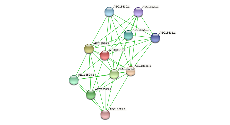 UMN179_02520 protein (Gallibacterium anatis) - STRING interaction network