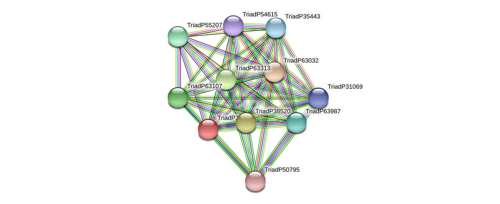 TriadP34857 protein (Trichoplax adhaerens) - STRING interaction network