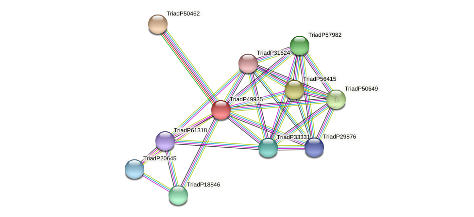 TriadP49935 protein (Trichoplax adhaerens) - STRING interaction network