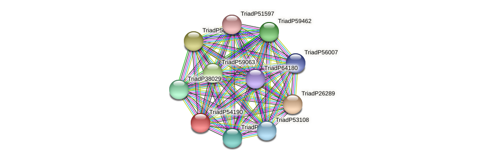 TriadP54190 protein (Trichoplax adhaerens) - STRING interaction network
