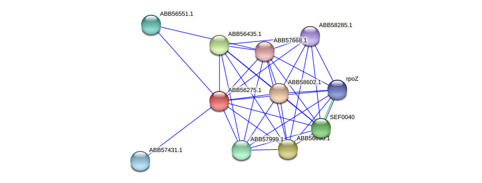 ABB56275.1 protein (Synechococcus elongatus PCC7942) - STRING interaction network