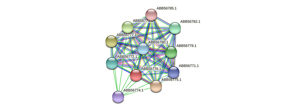 ABB56776.1 protein (Synechococcus elongatus PCC7942) - STRING interaction network