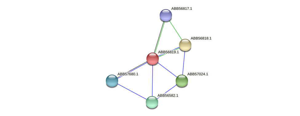 ABB56819.1 protein (Synechococcus elongatus PCC7942) - STRING interaction network