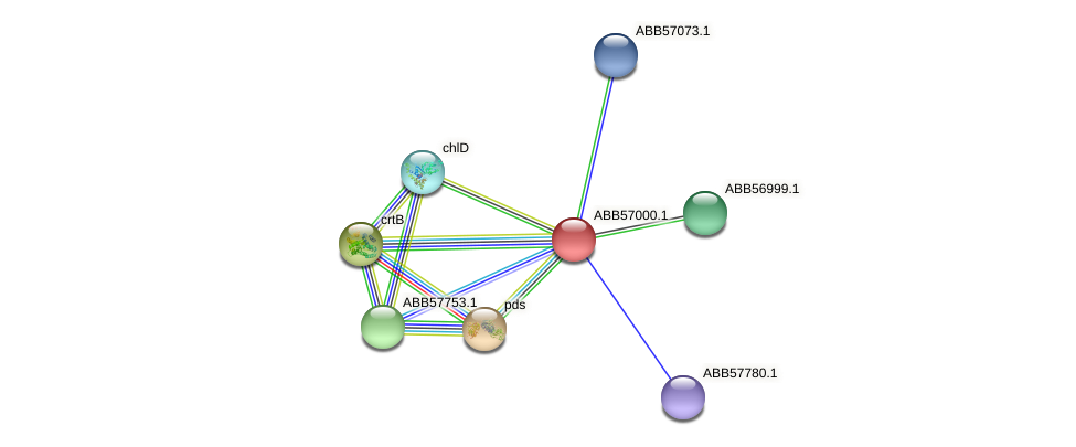 ABB57000.1 protein (Synechococcus elongatus PCC7942) - STRING interaction network