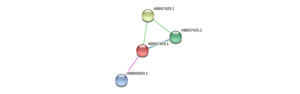 ABB57424.1 protein (Synechococcus elongatus PCC7942) - STRING interaction network