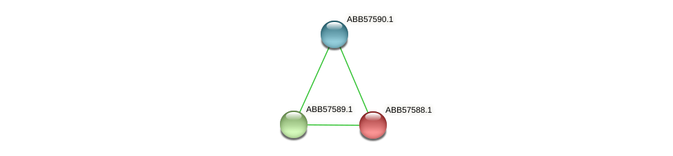 ABB57588.1 protein (Synechococcus elongatus PCC7942) - STRING interaction network