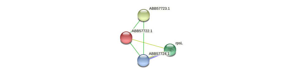 ABB57722.1 protein (Synechococcus elongatus PCC7942) - STRING interaction network