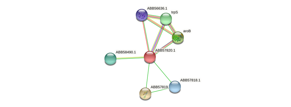 ABB57820.1 protein (Synechococcus elongatus PCC7942) - STRING interaction network