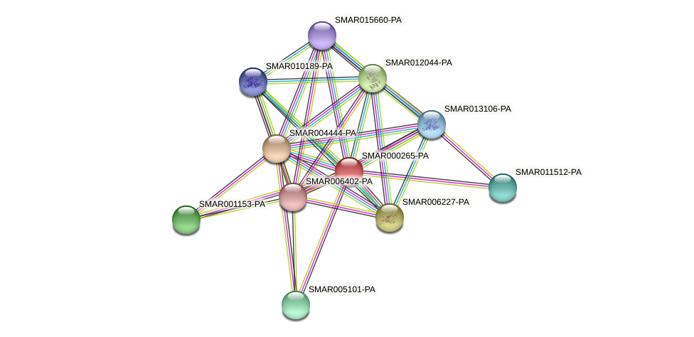 SMAR000265-PA protein (Strigamia maritima) - STRING interaction network
