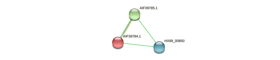AIF39784.1 protein (Dermacoccus nishinomiyaensis) - STRING interaction network