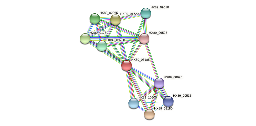 HX89_03185 protein (Dermacoccus nishinomiyaensis) - STRING interaction network