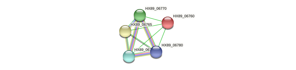 HX89_06760 protein (Dermacoccus nishinomiyaensis) - STRING interaction network