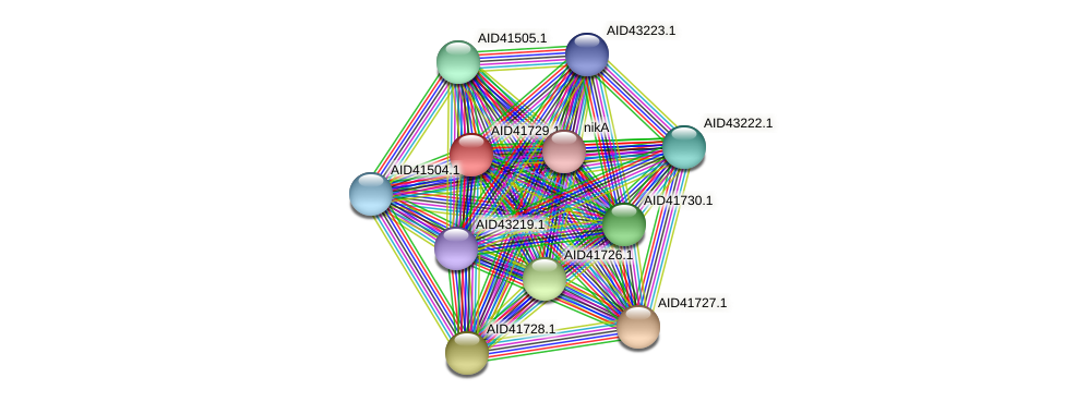 AID41729.1 protein (Staphylococcus xylosus) - STRING interaction network