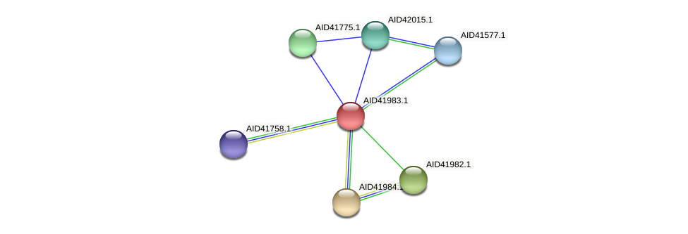 AID41983.1 protein (Staphylococcus xylosus) - STRING interaction network