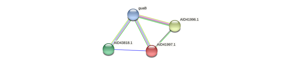 AID41997.1 protein (Staphylococcus xylosus) - STRING interaction network