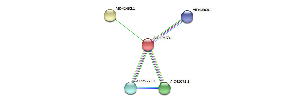 AID42453.1 protein (Staphylococcus xylosus) - STRING interaction network