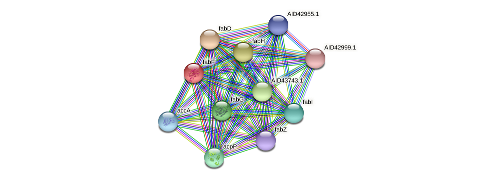 AID43226.1 protein (Staphylococcus xylosus) - STRING interaction network