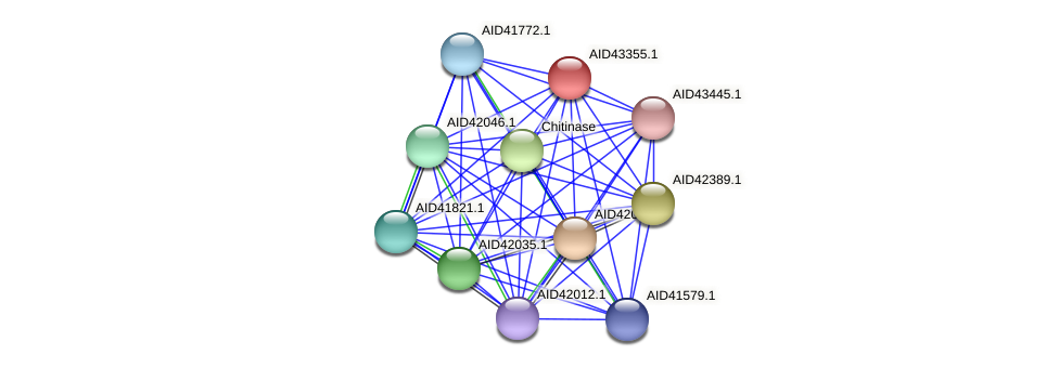 AID43355.1 protein (Staphylococcus xylosus) - STRING interaction network