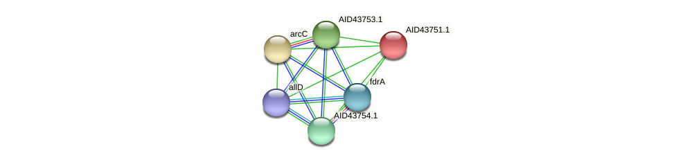 AID43751.1 protein (Staphylococcus xylosus) - STRING interaction network