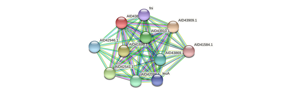 AID43878.1 protein (Staphylococcus xylosus) - STRING interaction network