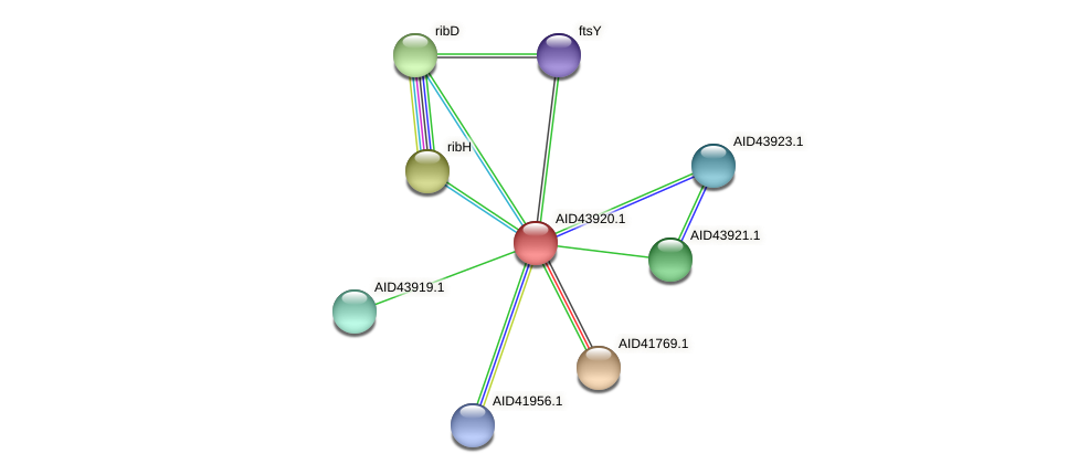 AID43920.1 protein (Staphylococcus xylosus) - STRING interaction network