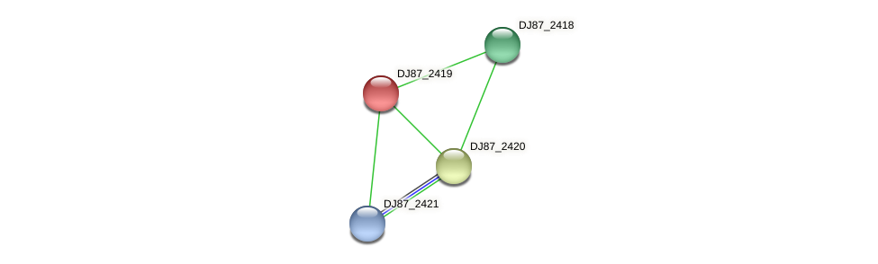 DJ87_2419 protein (Bacillus cereus) - STRING interaction network