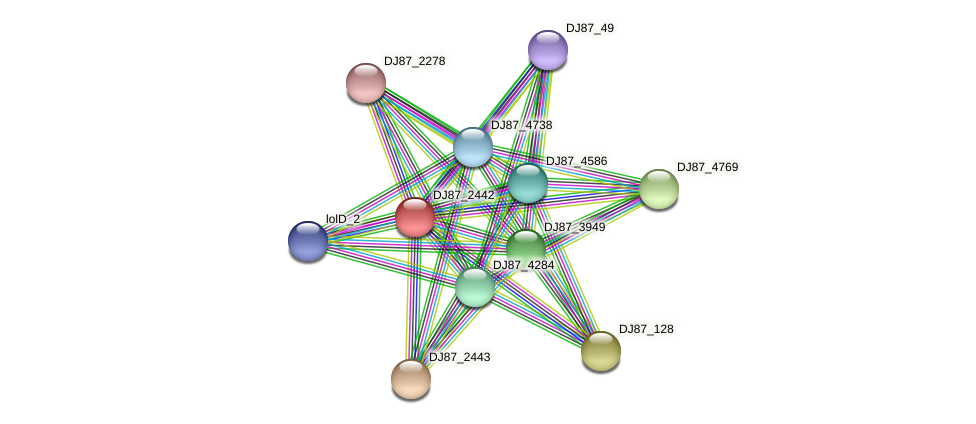 bceB_4 protein (Bacillus cereus) - STRING interaction network