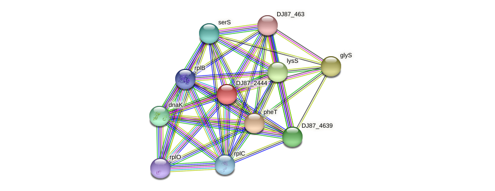 thrZ_1 protein (Bacillus cereus) - STRING interaction network