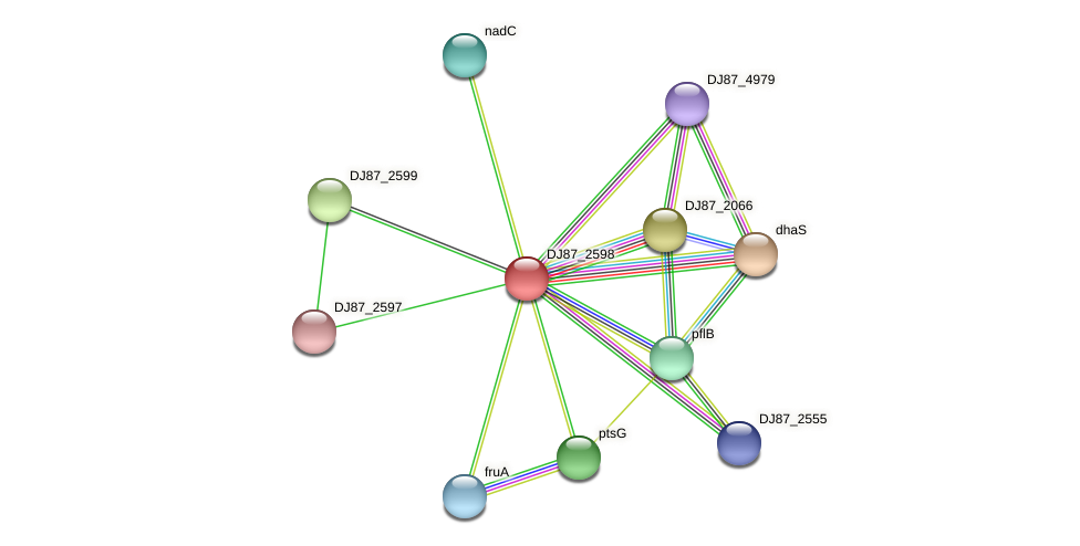 adhB_1 protein (Bacillus cereus) - STRING interaction network