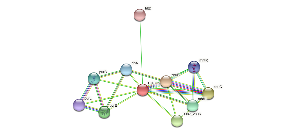 znuA_1 protein (Bacillus cereus) - STRING interaction network
