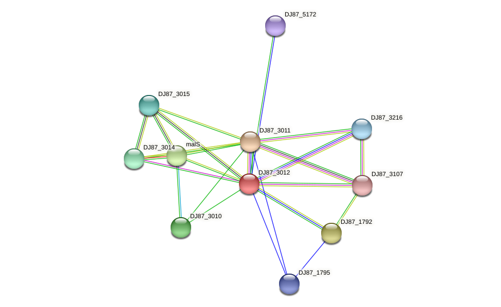 glnK_1 protein (Bacillus cereus) - STRING interaction network