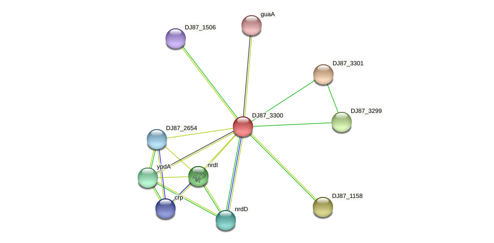 DJ87_3300 protein (Bacillus cereus) - STRING interaction network
