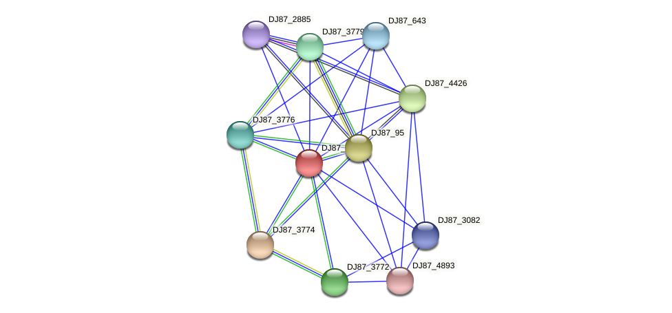 B4080_5768 protein (Bacillus cereus) - STRING interaction network