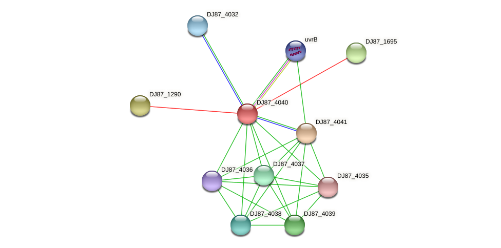 mta_1 protein (Bacillus cereus) - STRING interaction network