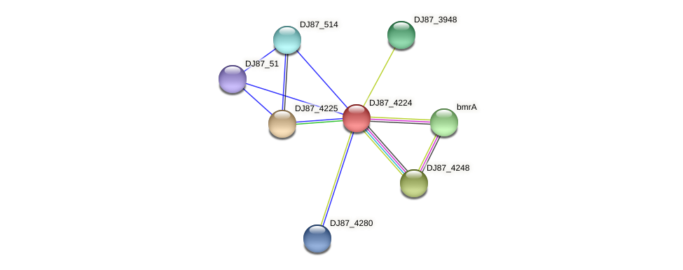 DJ87_4224 protein (Bacillus cereus) - STRING interaction network