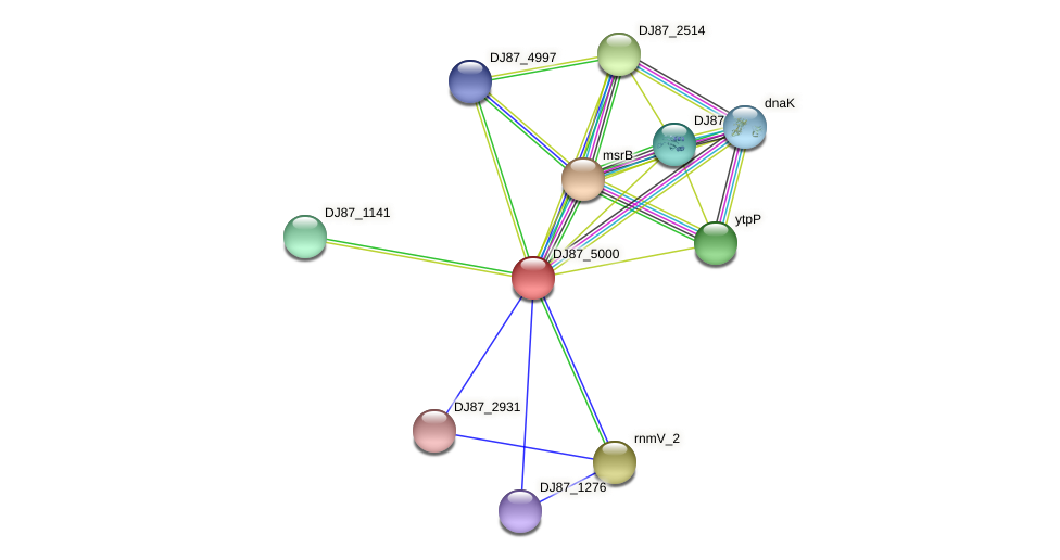 trxA_3 protein (Bacillus cereus) - STRING interaction network