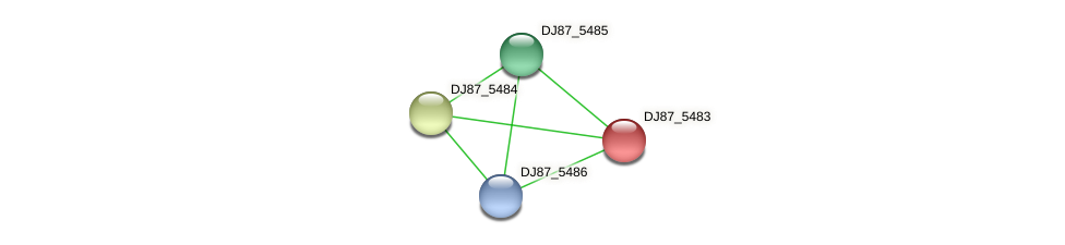 DJ87_5483 protein (Bacillus cereus) - STRING interaction network