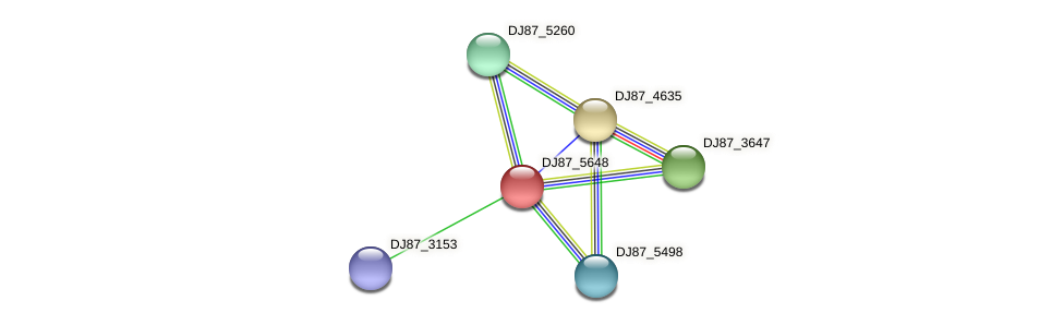 DJ87_5648 protein (Bacillus cereus) - STRING interaction network