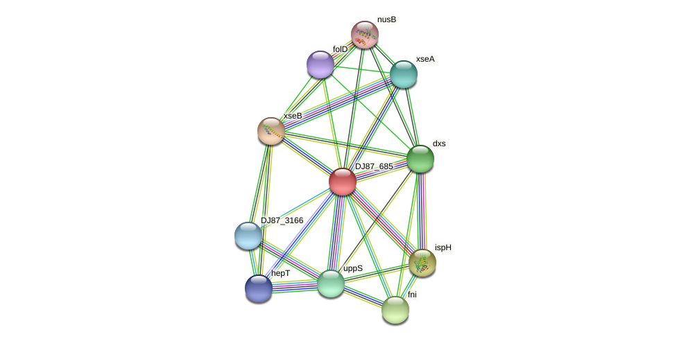 DJ87_685 protein (Bacillus cereus) - STRING interaction network