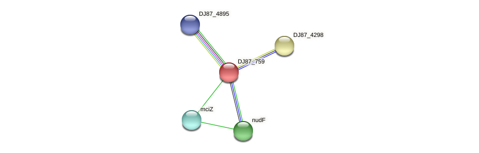 yhdN_1 protein (Bacillus cereus) - STRING interaction network