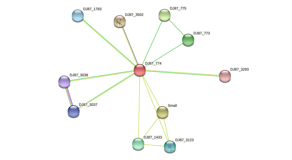 mhqR_2 protein (Bacillus cereus) - STRING interaction network