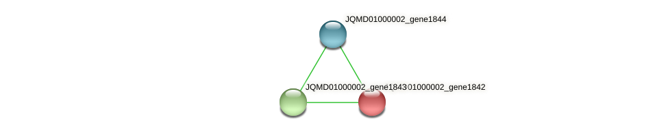 JQMD01000002_gene1842 protein (Zobellia uliginosa) - STRING interaction network