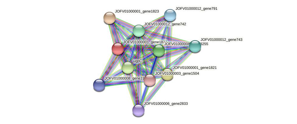 JOFV01000001_gene1822 protein (Oerskovia turbata) - STRING interaction network