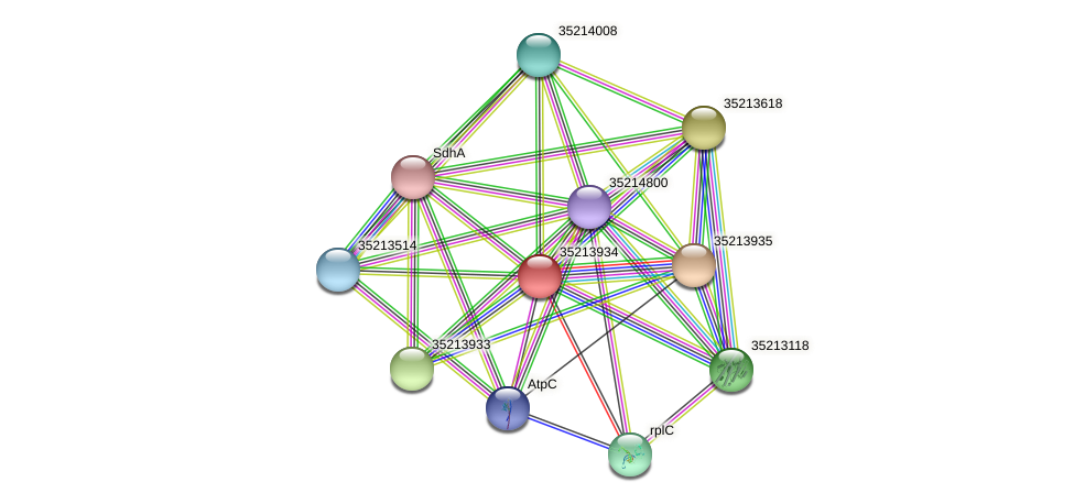 gll3363 protein (Gloeobacter violaceus) - STRING interaction network